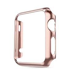 Tasche Luxus Aluminium Metall Rahmen für Apple iWatch 3 42mm Rosa