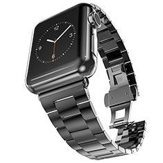 Uhrenarmband Edelstahl Band für Apple iWatch 3 42mm Schwarz