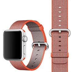 Uhrenarmband Milanaise Band Armbanduhren für Apple iWatch 4 44mm Orange
