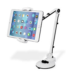 Universal Faltbare Ständer Tablet Halter Halterung Flexibel H01 für Huawei MediaPad M2 10.1 FDR-A03L FDR-A01W Weiß