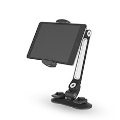 Universal Faltbare Ständer Tablet Halter Halterung Flexibel H02 für Microsoft Surface Pro 4 Schwarz