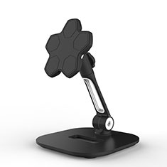 Universal Faltbare Ständer Tablet Halter Halterung Flexibel H03 für Samsung Galaxy Tab S 8.4 SM-T705 LTE 4G Schwarz