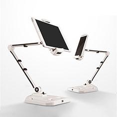 Universal Faltbare Ständer Tablet Halter Halterung Flexibel H07 für Apple iPad Pro 12.9 Weiß
