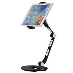 Universal Faltbare Ständer Tablet Halter Halterung Flexibel H08 für Apple iPad Mini 3 Schwarz