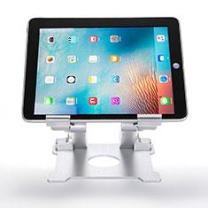 Universal Faltbare Ständer Tablet Halter Halterung Flexibel H09 für Apple iPad Mini 4 Weiß