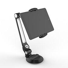 Universal Faltbare Ständer Tablet Halter Halterung Flexibel H12 für Huawei MediaPad M3 Lite 10.1 BAH-W09 Schwarz
