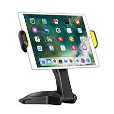 Universal Faltbare Ständer Tablet Halter Halterung Flexibel K03 für Huawei MediaPad M2 10.1 FDR-A03L FDR-A01W Schwarz