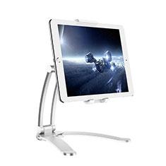 Universal Faltbare Ständer Tablet Halter Halterung Flexibel K05 für Huawei MediaPad M3 Lite 8.0 CPN-W09 CPN-AL00 Silber