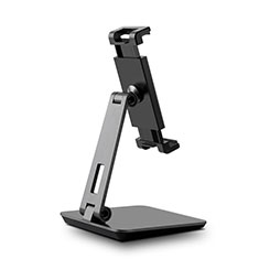 Universal Faltbare Ständer Tablet Halter Halterung Flexibel K06 für Apple iPad Air Schwarz