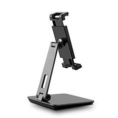 Universal Faltbare Ständer Tablet Halter Halterung Flexibel K06 für Huawei MateBook HZ-W09 Schwarz