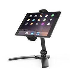 Universal Faltbare Ständer Tablet Halter Halterung Flexibel K08 für Huawei MateBook HZ-W09 Schwarz