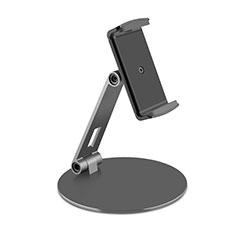 Universal Faltbare Ständer Tablet Halter Halterung Flexibel K10 für Samsung Galaxy Tab S7 Plus 5G 12.4 SM-T976 Schwarz