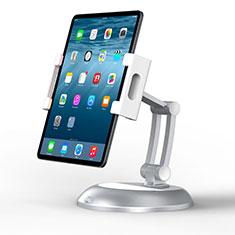Universal Faltbare Ständer Tablet Halter Halterung Flexibel K11 für Samsung Galaxy Tab S6 Lite 4G 10.4 SM-P615 Silber