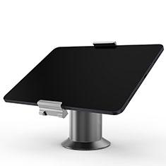 Universal Faltbare Ständer Tablet Halter Halterung Flexibel K12 für Huawei MateBook HZ-W09 Grau
