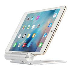 Universal Faltbare Ständer Tablet Halter Halterung Flexibel K14 für Apple iPad 10.2 (2020) Silber