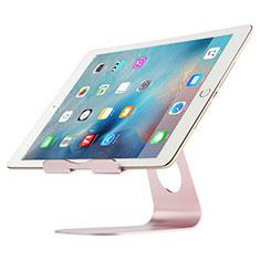 Universal Faltbare Ständer Tablet Halter Halterung Flexibel K15 für Apple iPad 10.2 (2020) Rosegold