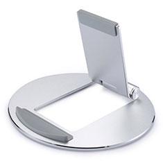 Universal Faltbare Ständer Tablet Halter Halterung Flexibel K16 für Huawei MateBook HZ-W09 Silber