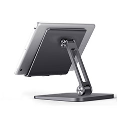 Universal Faltbare Ständer Tablet Halter Halterung Flexibel K17 für Amazon Kindle Oasis 7 inch Dunkelgrau