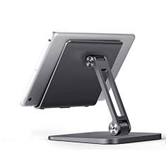 Universal Faltbare Ständer Tablet Halter Halterung Flexibel K17 für Huawei MateBook HZ-W09 Dunkelgrau