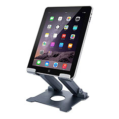 Universal Faltbare Ständer Tablet Halter Halterung Flexibel K18 für Huawei MediaPad M2 10.1 FDR-A03L FDR-A01W Dunkelgrau