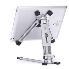 Universal Faltbare Ständer Tablet Halter Halterung Flexibel K19 für Huawei MateBook HZ-W09 Silber