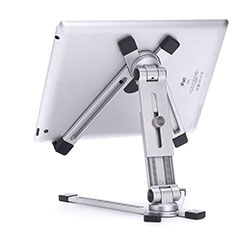Universal Faltbare Ständer Tablet Halter Halterung Flexibel K19 für Huawei MediaPad M3 Lite 8.0 CPN-W09 CPN-AL00 Silber