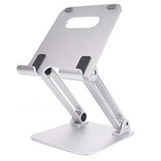 Universal Faltbare Ständer Tablet Halter Halterung Flexibel K20 für Apple New iPad Air 10.9 (2020) Silber