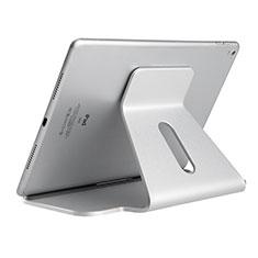 Universal Faltbare Ständer Tablet Halter Halterung Flexibel K21 für Huawei MateBook HZ-W09 Silber
