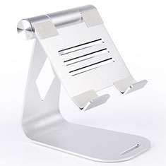 Universal Faltbare Ständer Tablet Halter Halterung Flexibel K25 für Huawei MediaPad M2 10.1 FDR-A03L FDR-A01W Silber