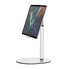 Universal Faltbare Ständer Tablet Halter Halterung Flexibel K28 für Huawei MateBook HZ-W09 Weiß