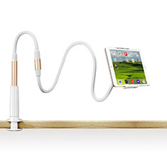 Universal Faltbare Ständer Tablet Halter Halterung Flexibel T33 für Apple iPad 3 Gold