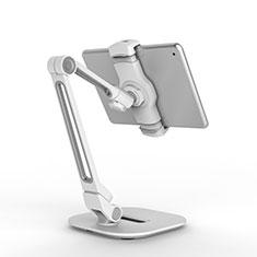 Universal Faltbare Ständer Tablet Halter Halterung Flexibel T44 für Apple iPad Mini 3 Silber