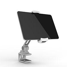 Universal Faltbare Ständer Tablet Halter Halterung Flexibel T45 für Huawei MediaPad M5 Lite 10.1 Silber