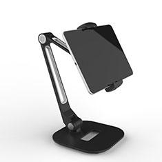 Universal Faltbare Ständer Tablet Halter Halterung Flexibel T46 für Huawei MateBook HZ-W09 Schwarz
