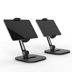 Universal Faltbare Ständer Tablet Halter Halterung Flexibel T47 für Samsung Galaxy Tab 4 10.1 T530 T531 T535 Schwarz