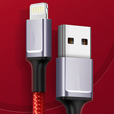 USB Ladekabel Kabel C03 für Apple iPhone 11 Pro Max Rot