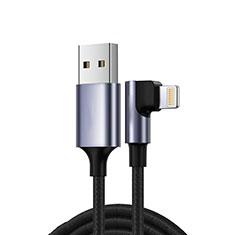 USB Ladekabel Kabel C10 für Apple New iPad 9.7 (2018) Schwarz