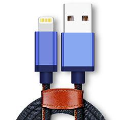 USB Ladekabel Kabel D01 für Apple iPad 10.2 (2020) Blau