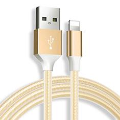 USB Ladekabel Kabel D04 für Apple iPad 10.2 (2020) Gold