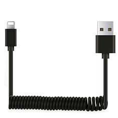 USB Ladekabel Kabel D08 für Apple iPad 10.2 (2020) Schwarz