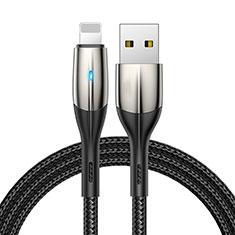 USB Ladekabel Kabel D09 für Apple iPad 10.2 (2020) Schwarz