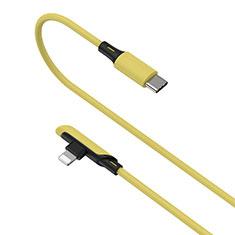 USB Ladekabel Kabel D10 für Apple iPhone 12 Gelb