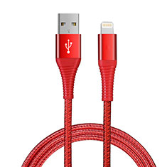 USB Ladekabel Kabel D14 für Apple iPad New Air (2019) 10.5 Rot
