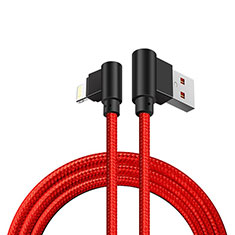 USB Ladekabel Kabel D15 für Apple iPad New Air (2019) 10.5 Rot