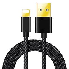 USB Ladekabel Kabel L02 für Apple iPod Touch 5 Schwarz