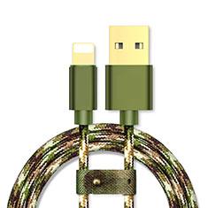 USB Ladekabel Kabel L03 für Apple iPad Mini 5 (2019) Grün