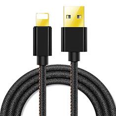 USB Ladekabel Kabel L04 für Apple iPhone 11 Pro Max Schwarz