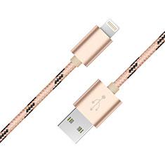 USB Ladekabel Kabel L10 für Apple iPhone 11 Pro Gold
