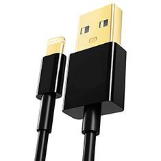 USB Ladekabel Kabel L12 für Apple iPod Touch 5 Schwarz