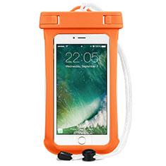 Wasserdicht Unterwasser Handy Schutzhülle Universal für Nokia 3.1 Plus Orange